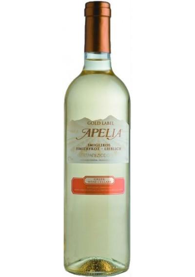Απέλια Ημίλγυκο Λευκό 0,75lt