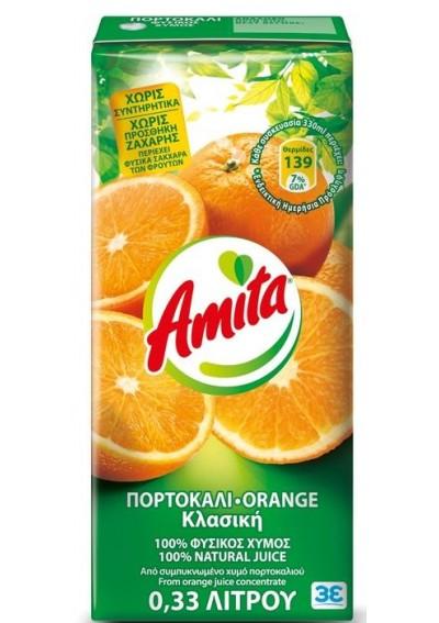 Amita Πορτοκάλι 100% 0,33lt