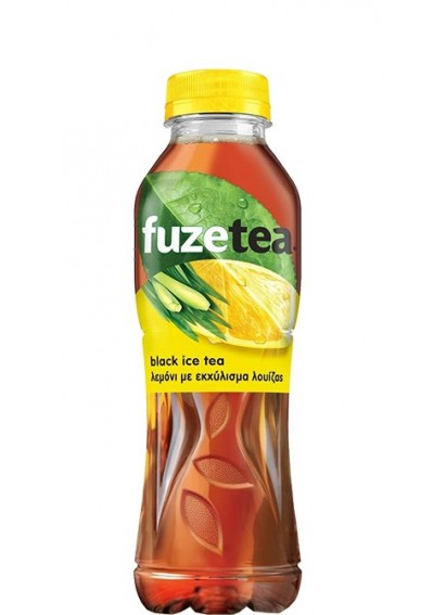 FuzeTea Black Ice Tea Λεμόνι με εκχύλισμα Λουίζας 0,50lt