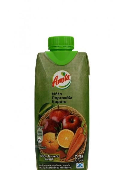 Amita Orange Apple Carrot 0,33lt